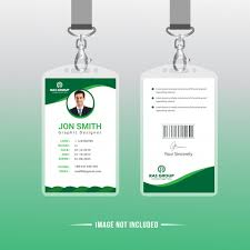 Green Card Office Green Office Id Card Template Vector Premium Download
