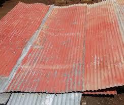 reclaimed corrugated tin