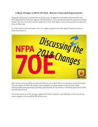 Pdf 5 Major Changes In Nfpa 70e 2018 New Arc Flash Label