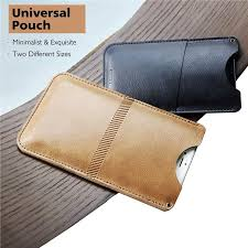 genuine rock universal pouch card pocket leather wallet case cover