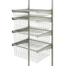 closet maid shelf track photo 3 of 4 drawer kit in nickel nice closet maid baskets closet maid shelf track