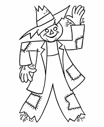 Small Picture Scarecrow Coloring Pages fablesfromthefriendscom
