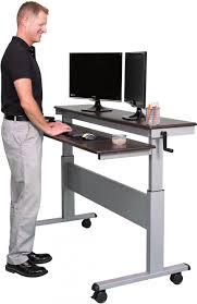 ... Large Size of Desk & Workstation, Sit stand computer desk high desk  table standing computer ...