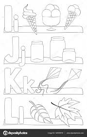 Alfabet Letters Kleurplaat Stockvector Pupahava 149355510