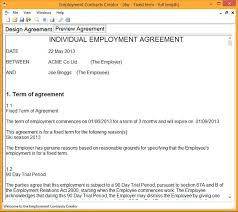 Casual Employment Contract Template Free. Sample Casual Employment ...