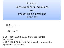 8 practice solve exponential equations
