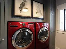 colored washer and dryer.  Washer Love The Wall Color With Red Washer And Dryer For Colored Washer And Dryer