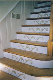 Decorating A Staircase Basement Stair Staircases And Stenciling - Painted basement stairs