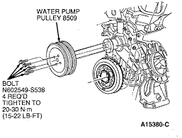 ford f150 water pump replacement ford trucks remove water pump assembly