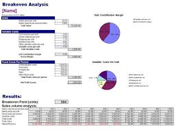 Breakeven Template Free Breakeven Analysis Template Breakeven Template Pinterest 6