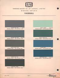 Vauxhall Colour Chart Vauxhall Paint Chart Color Reference