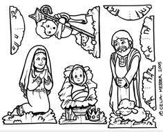Small Picture Nativity Scene Coloring Page Sunday school Craft and Churches