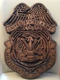 U S Department Of The Army Military Police Wood Plaque Badge Gifts For Him Her Retiree Custom Badges Pcs Gifts
