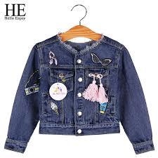 <b>HE Hello Enjoy</b> Baby Girls Jackets Coats Cartoon Graffiti ...