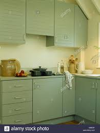 Farrow And Ball Kitchen Pastel Green Units Painted In Farrow Ball Paint In Modern Kitchen