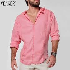 <b>2019 New Men's</b> Casual Linen <b>shirts</b> Male Mandarin Collar V Neck ...