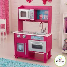 Childrens Wooden Kitchen Furniture Kidkraft Gracie Girls Pink Play Toy Toddler Kitchen