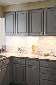 Light Gray Kitchen Gray Kitchen Cabinets With Subway Tile Quicuacom
