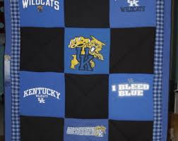 Kentucky University KU K U Kentucky Wildcats Wildcats KU & University of Kentucky Wildcats Large Upcycled T-shirt Quilt UK,, Handmade Adamdwight.com