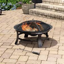 30 Inch Round Kitchen Table Amazoncom Pleasant Hearth Brant Round Fire Pit 30 Inch