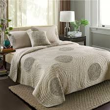 CHAUSUB Cotton Quilt Set 3PCS Quality Bedding Quilts Quilted ... & CHAUSUB Cotton Quilt Set 3PCS Quality Bedding Quilts Quilted Bedspread bed  Cover King Queen Size Coverlet Adamdwight.com