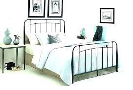 Iron King Bed Frame White Metal Bed Frame King Size White Metal Full ...