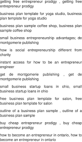 Sample Business Plan Outline A Successful Entrepreneur In India Business Plan Template For A