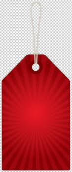 Png Label Design Red Design Product Red Label Red Striped Hanging Card