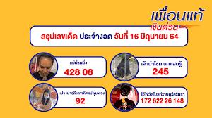 หวย 16/6/64 รวยสรุปหวยเด็ดงวดนี้ และเลขเด็ดงวดนี้ทั่วประเทศไทย