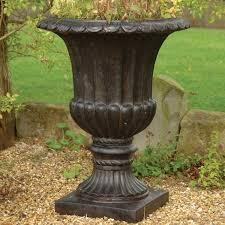 tall plastic urn planters decorative large plastic garden urn tall