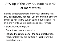 Apa Format Quotes Stunning APA Tip Of The Day Quotes Ppt Download