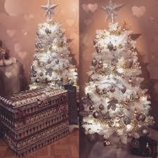 Vintage White Christmas Tree Lights Vintage Inspired Miniite Christmas Tree Decorated With