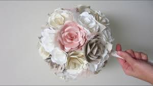 Paper Flower Diy Wedding Diy Wedding Bouquet Paper Flowers From Start To Finish Youtube