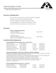 Resume Format Veterinary Doctor Doctor Format Resume Veterinary