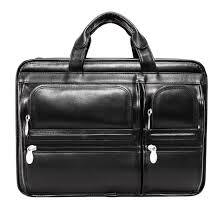 McKlein Black Leather Hubbard Double Compartment Laptop Briefcase - Free  Shipping Today - Overstock.com - 11728028