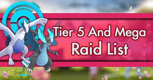 tier 5 and mega raid guides pokemon