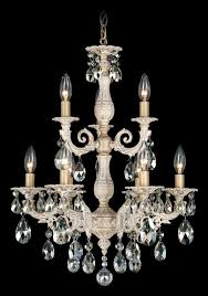 milano 9 light 110v chandelier in floine bronze with silver shade crystals from swarovski