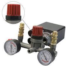 air compressor pressure switch. air compressor pump pressure switch control + valve gauges regulator e