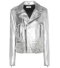 saint lau classic l01 leather biker jacket argent lame silver women saint lau shoes saks on