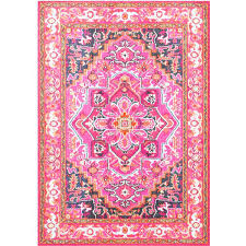 nuloom pink rug pink rug pink rug a liked on featuring home rugs vibrant fl pink