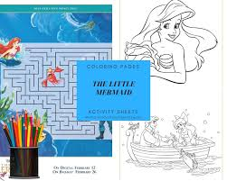 The Little Mermaid Coloring Pages And Activity Sheets Crazy