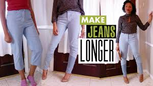Make Pants How To Make Jeans Longer The Cool Way Easy Sewing Blueprintdiy
