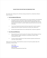 recommendation letter for student scholarship sample   receipts     Tansontower com