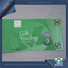 custom security gift voucher booklet printing