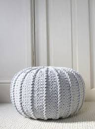 Knitted Poufs Ottomans