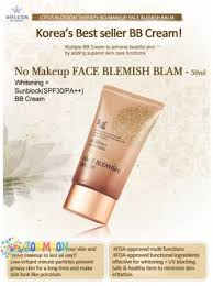 welcos no makeup face bb cream spf 30 pa ขนาดทดลอง 10ml bb แบรนด ด งเกาหล