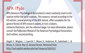 how to cite sources apa style by