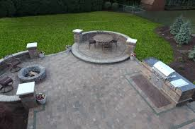 patio with fire pit and grill. Beautiful Fire Baron Landscaping  Fire Feature Contractor To Patio With Pit And Grill O