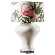 Modern Glazed Pottery Hand Made Vase Custom Lamp Flamingo Shade For
