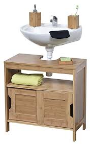 Bamboo Vanity Bathroom Amazing Amazon EVIDECO Non Pedestal Under Sink Storage Vanity Cabinet